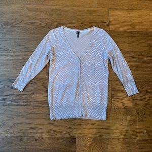 Maurices Button Front Chevron Cardigan